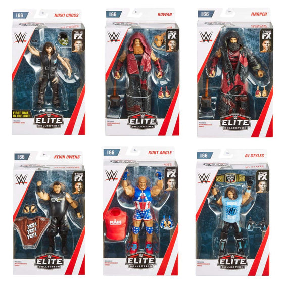 WWE Wrestling Elite Series 66 - Set of 6 Action Figures - FEBRUARY 2019