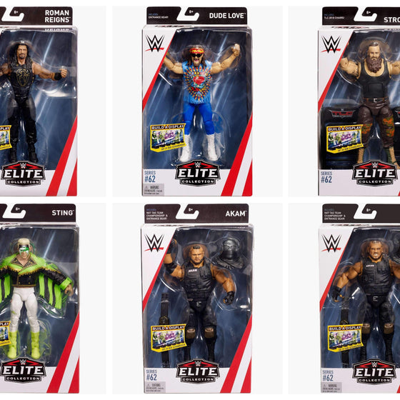 WWE Wrestling Elite Series 62 - Set of 6 Action Figures