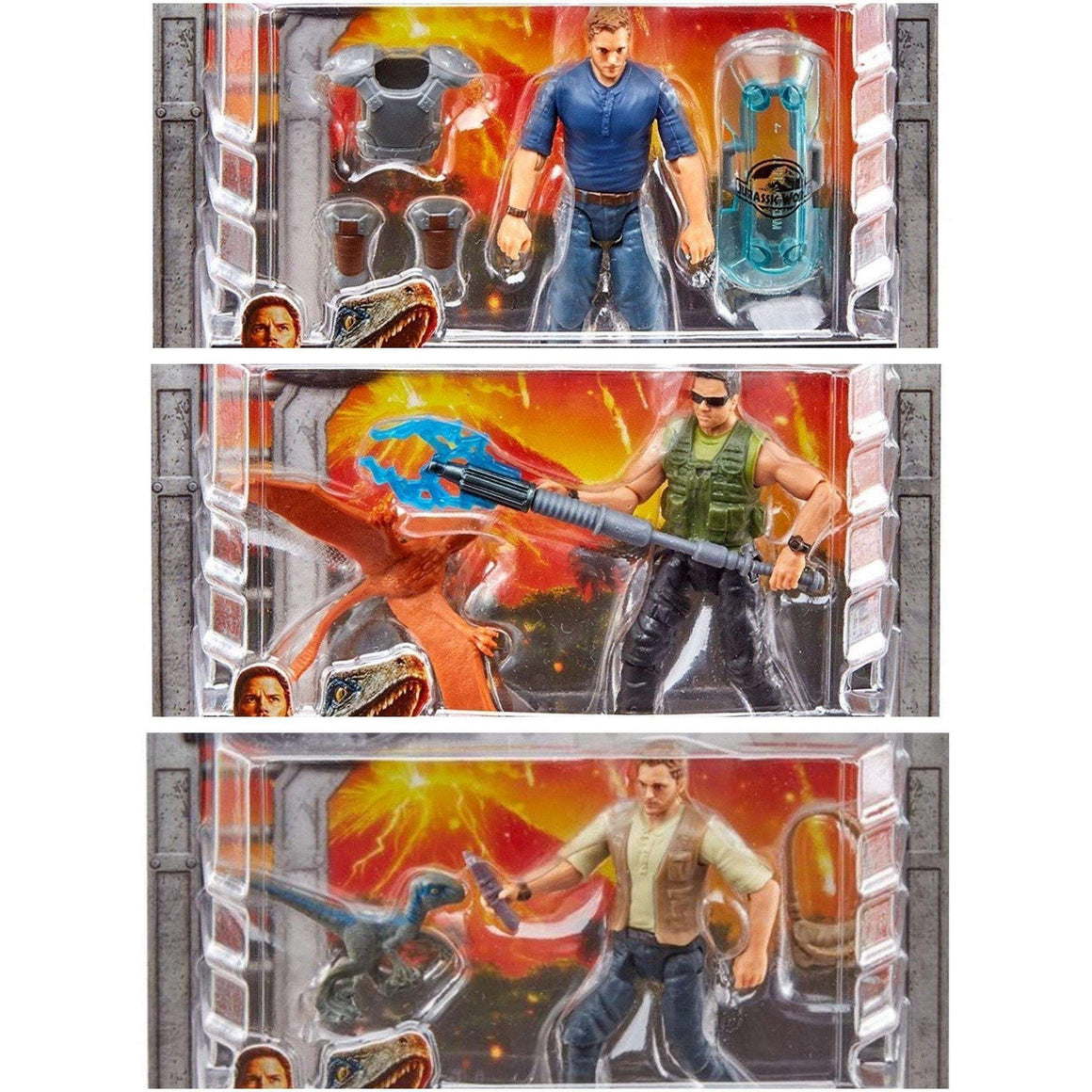 Jurassic World Fallen Kingdom Dinosaur Action Figures - Set of 3