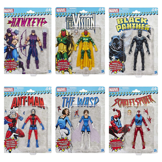 Marvel Legends Vintage Wave 2 - Set of 6 Figures
