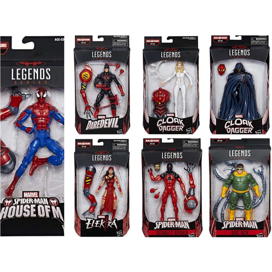 Spider-Man Marvel Legends Wave 10 (SP//DR BAF) - Complete Case of 8