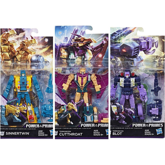 Transformers Generations Power of the Primes Deluxe Wave 3 - Set of 3 -BACKORDERED SHIPS JUNE