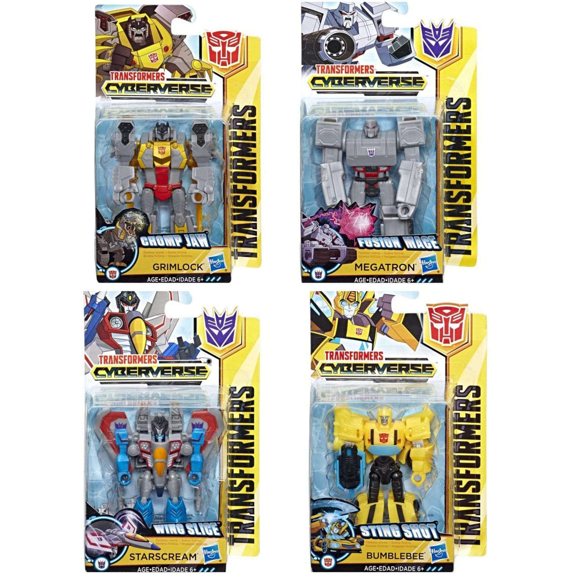 Transformers Cyberverse Scout Wave 1 - Set of 4 - AUGUST 2018