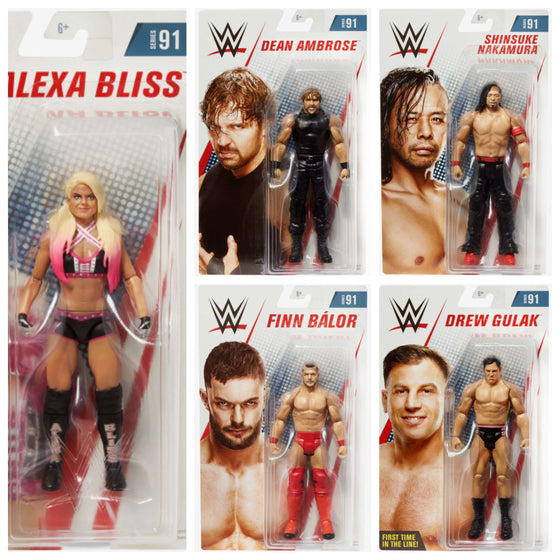 WWE Basic Series 91 - Set of 5