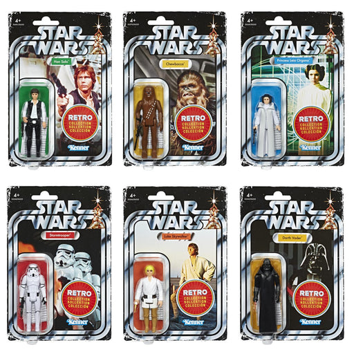 Star Wars The Retro Collection Action Figures Wave 1 - Set of 6 - (BACKORDERED) JANUARY 2020