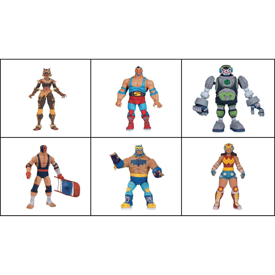 DC ¡Lucha Explosiva! Complete Set of 6 Figures - OCTOBER 2019