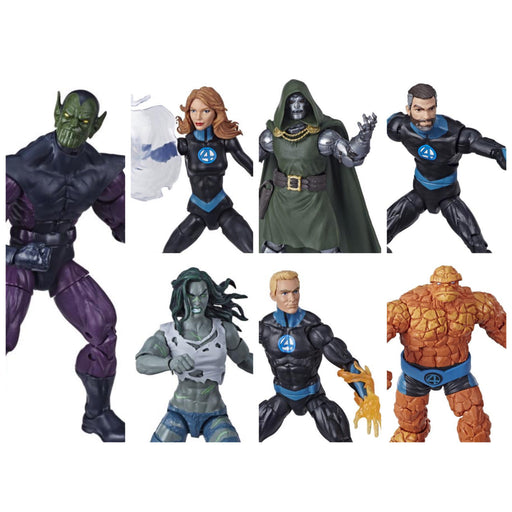 Fantastic Four Marvel Legends 6-Inch Action Figures (BAF Super Skrull) - Set of 6
