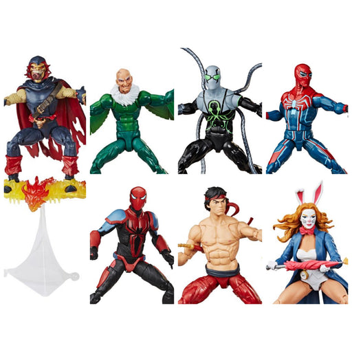 Spider-Man Marvel Legends 6-Inch Action Figures Wave 1 (BAF Demogoblin)- Set of 6