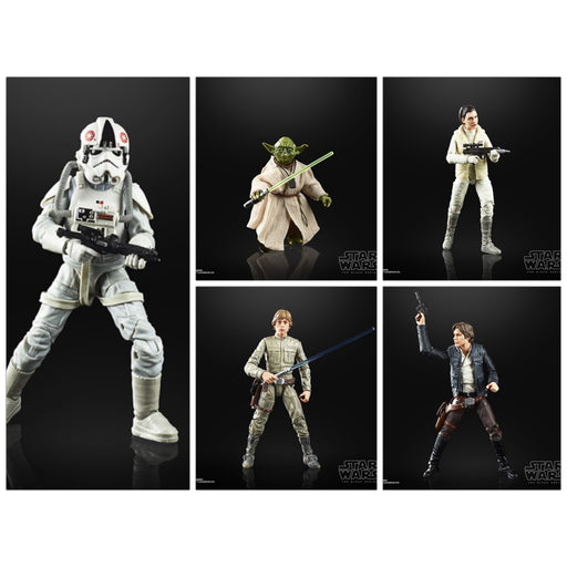 Star Wars The Black Series Empire Strikes Back 40th Anniversary 6-Inch Action Figure Wave 1 - Set of 5