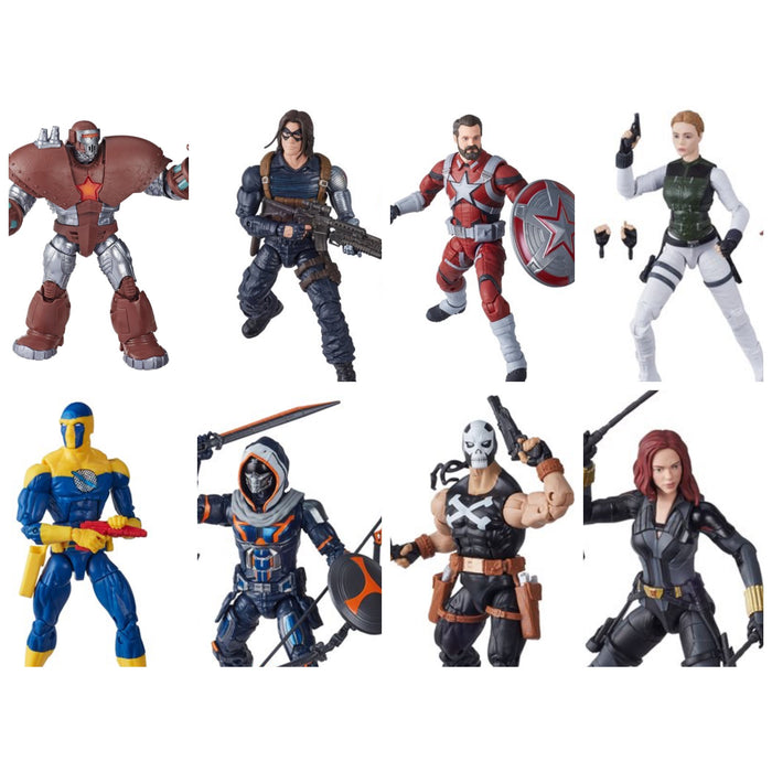 Black Widow Marvel Legends 6-Inch - Set of 7 - (Crimson Dynamo BAF)