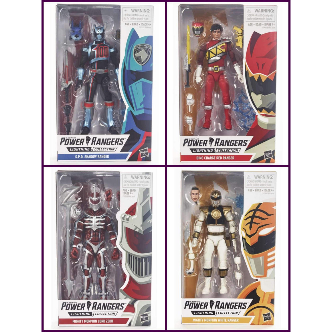 Power Rangers Lightning Collection Wave 1 Set of 4 Figures - Q2 2019