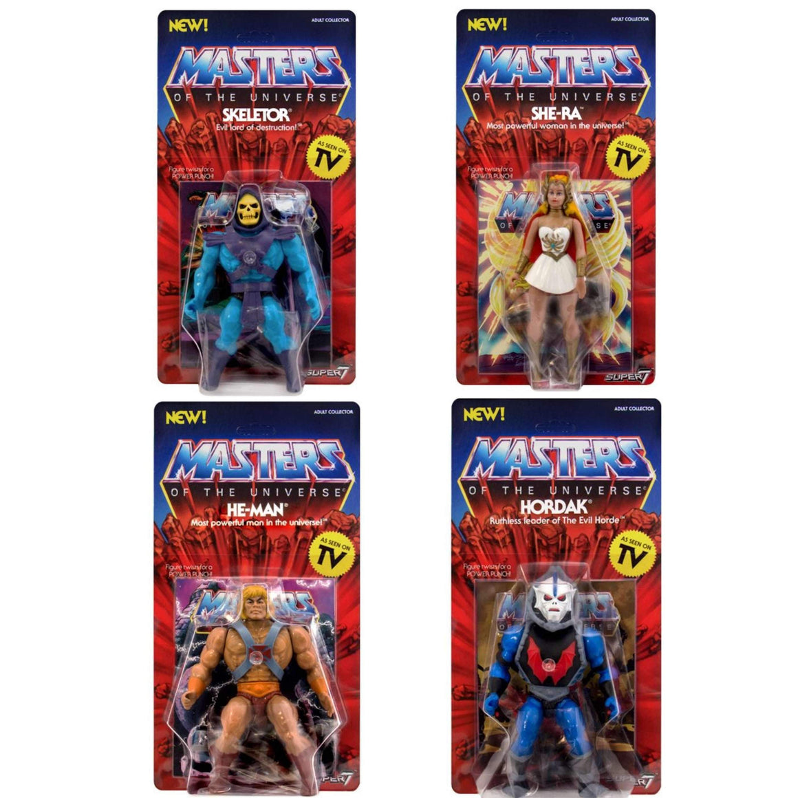 Masters of the Universe Vintage Wave 1 - Set of 4 - BACKORDERED SHIPS MAY 2019