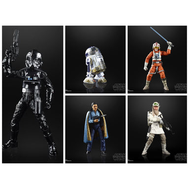 Star Wars The Black Series Empire Strikes Back 40th Anniversary 6-Inch Action Figure Wave 2 - Set of 5 - AUGUST 2020