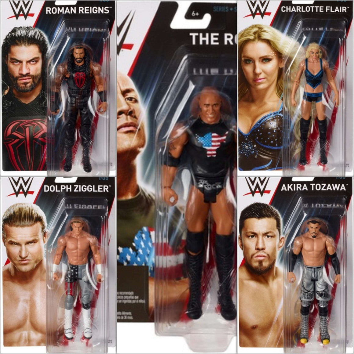 WWE Basic Series 86 - Complete Set of 5 - OCTOBER 2018