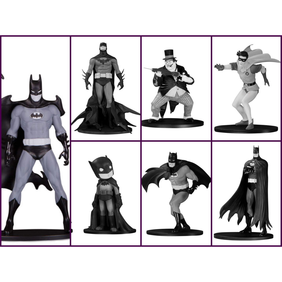 Batman Black and White Mini Figure Box Set #4 - NOVEMBER 2019