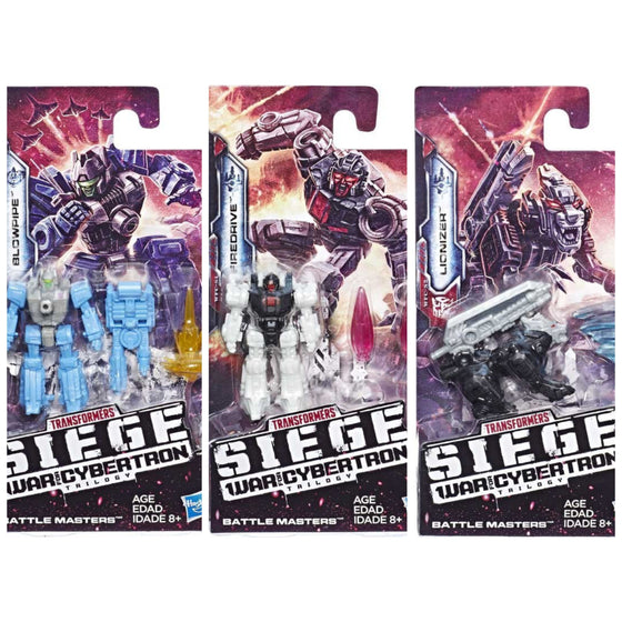 Transformers: Generations - War For Cybertron Siege Battlemasters Wave 1 - Complete Set of 3