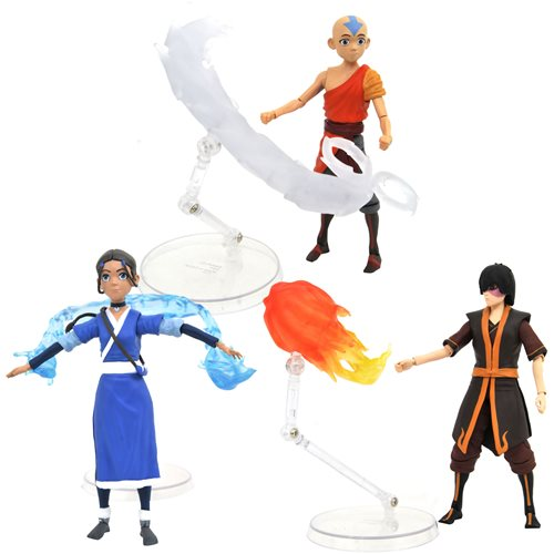 Avatar: The Last Airbender Series 1 Action Figure Set of 3 -JANUARY 2021