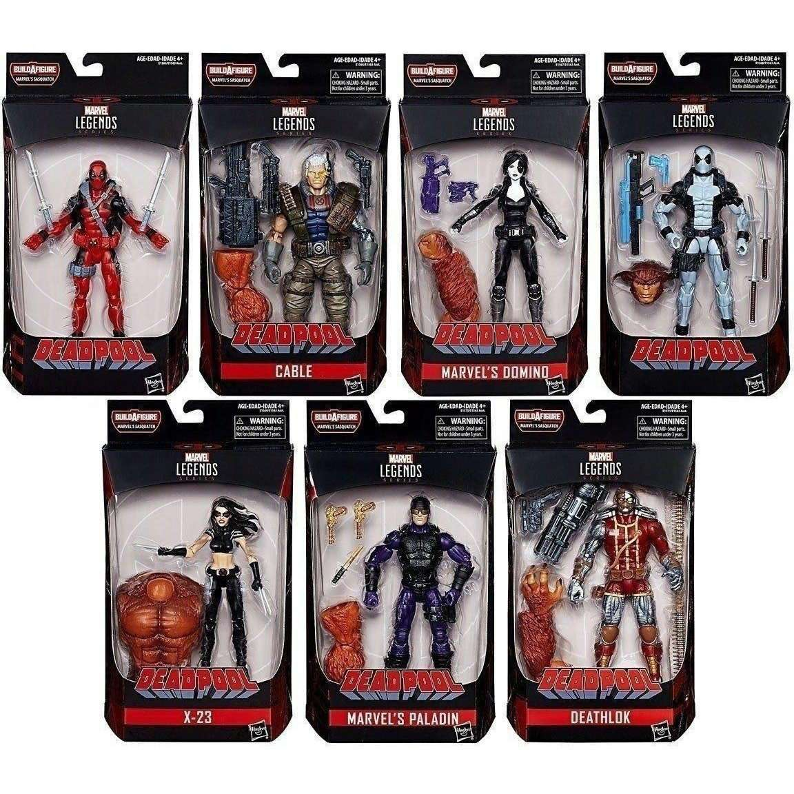 Deadpool Marvel Legends 6-Inch Action Figure (Sasquatch BAF) Wave One - Domino