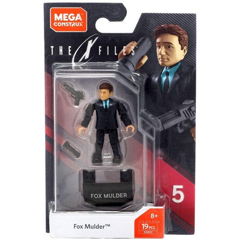 X-files Mega Construx Heroes Fox Mulder (DAMAGED BOX)