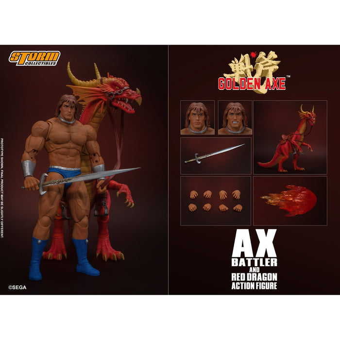 Golden Axe – Ax Battler and Red Dragon 1:12 Scale Set - AUGUST 2020