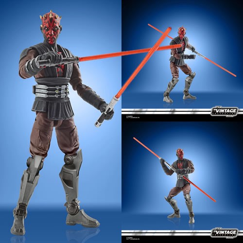 "Star Wars Figures - 3.75"" Vintage Collection - The Clone Wars - Darth Maul (Mandalore) - JULY 2021"