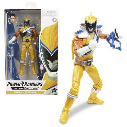 Power Rangers Lightning Collection Wave 3 Dino Charge Gold Ranger 6-Inch Action Figure