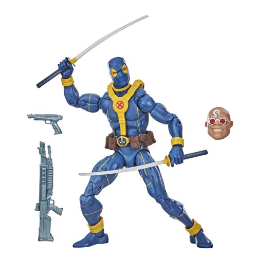 Deadpool Marvel Legends Wave 3 (Strong Guy BAF) - Blue Deadpool 6-inch Action Figure