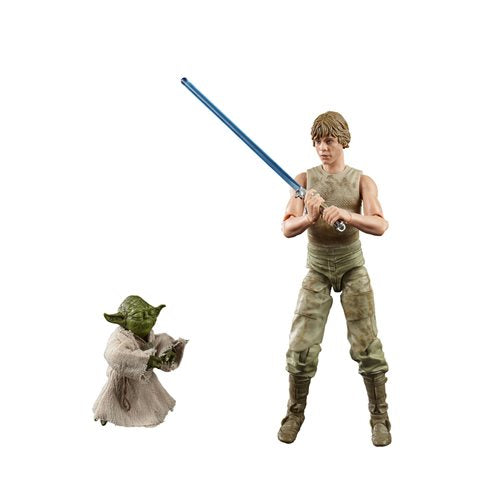 Star Wars The Black Series Luke Skywalker and Yoda (Jedi Training) 6-Inch Action Figures (DAMAGED BOX)