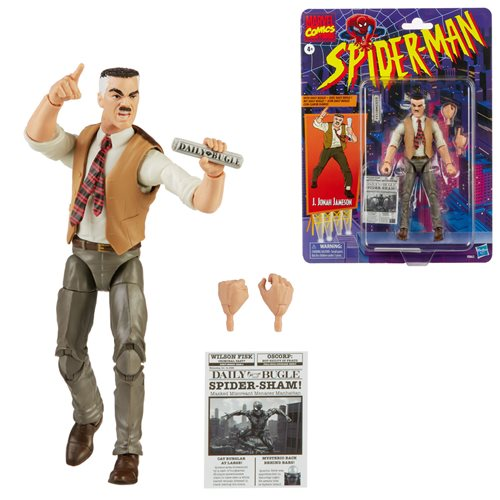 Spider-Man Retro Marvel Legends J. Jonah Jameson 6-Inch Action Figure - Exclusive - JANUARY 2021