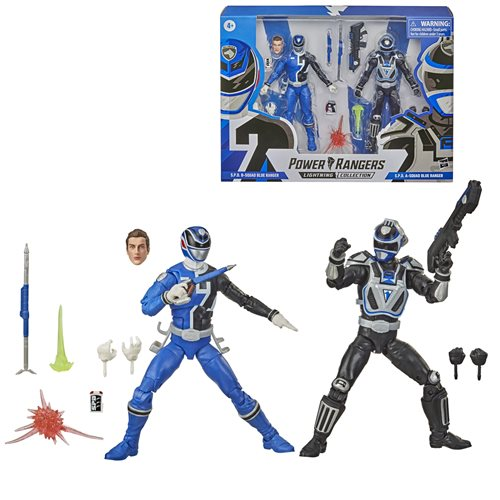 Power Rangers Lightning Collection 6-Inch S.P.D. Squad B Blue Ranger and Squad A Blue Ranger Action Figure Battle Pack - JANUARY 2021