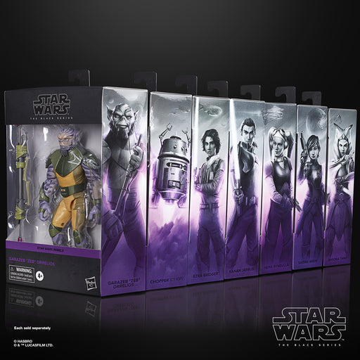 Star Wars The Black Series Rebels 6-Inch Action Figures Set of 7 - September 2020