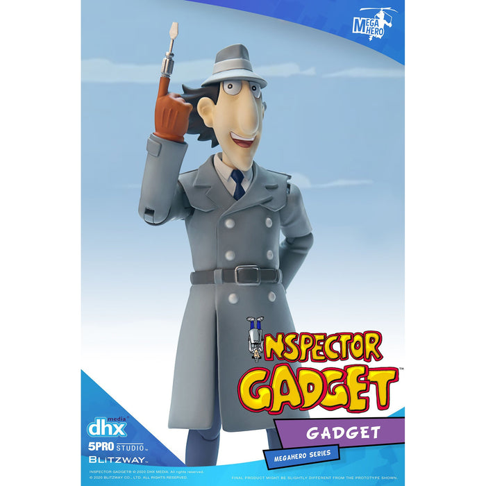 Inspector Gadget MEGAHERO Series - Inspector Gadget 1:12 Scale Action Figure - JANUARY 2021