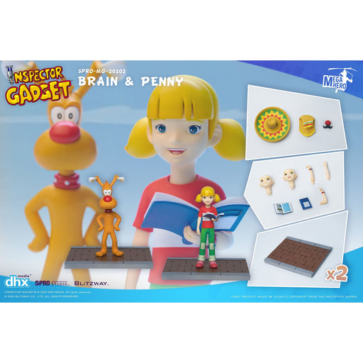Inspector Gadget MEGAHERO Series - Brain & Penny 1:12 Scale Action Figure Set - Q4 2020