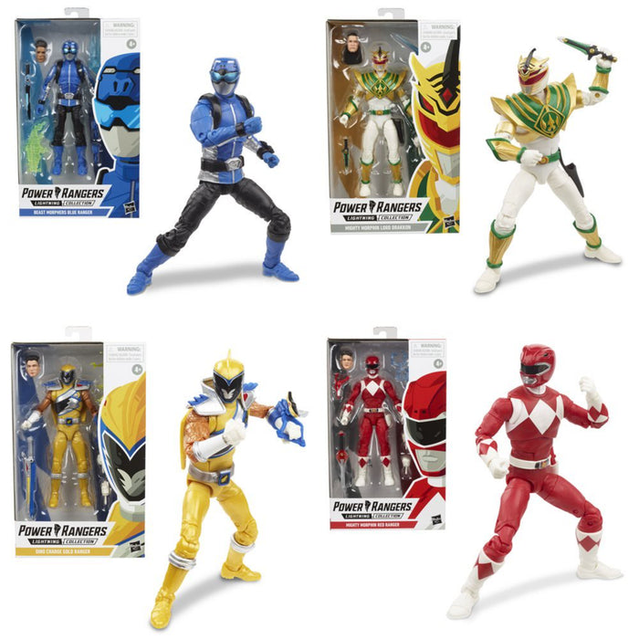 Power Rangers Lightning Collection Wave 3 - Complete Set of 4