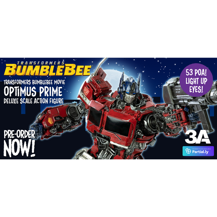 Transformers Bumblebee Movie Optimus Prime Deluxe Scale Action Figure - Q2 2020