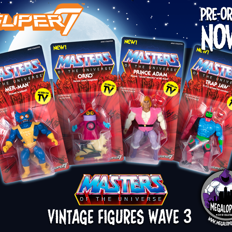 Masters of the Universe Vintage Wave 3 Set of 4 - MAY 2019