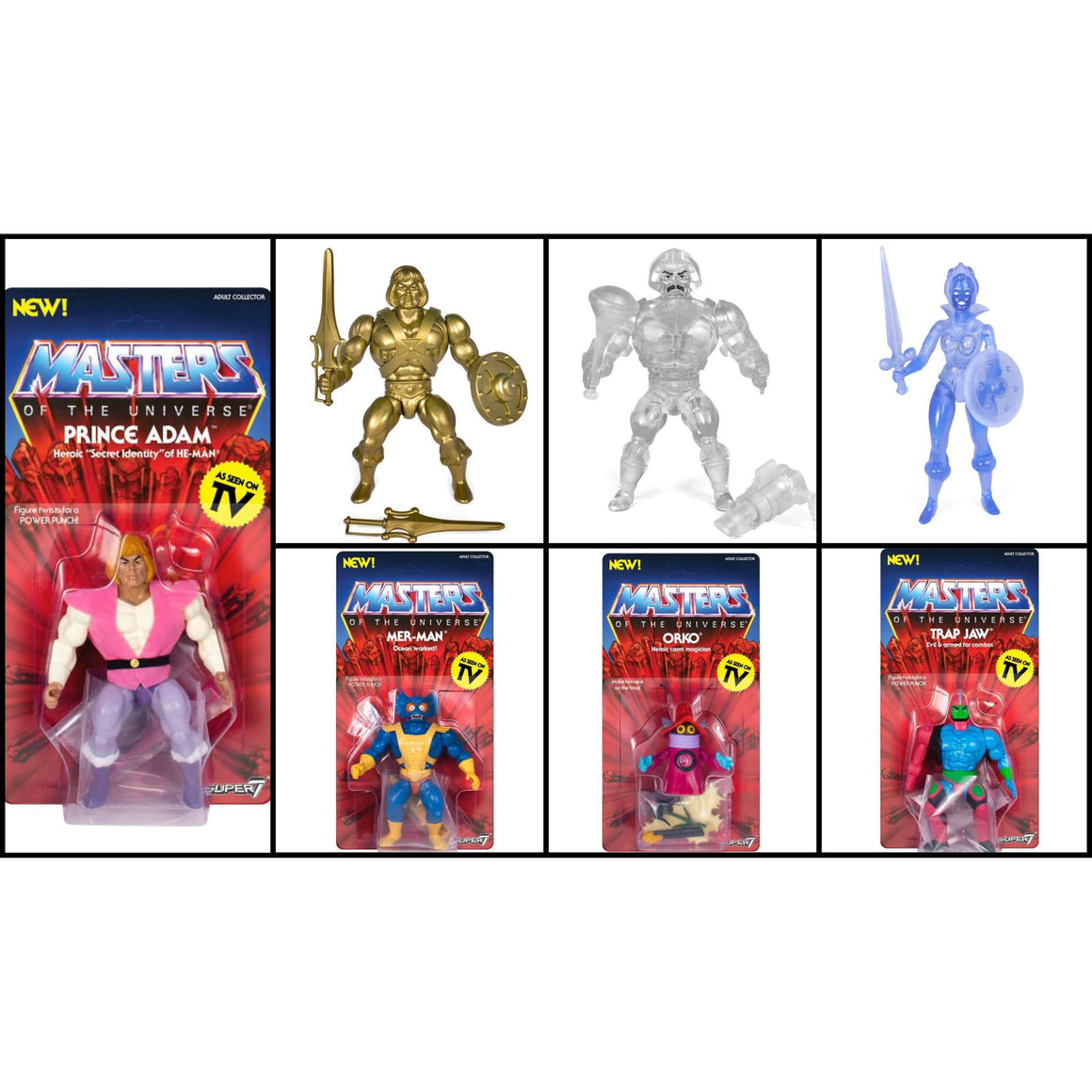 Masters of the Universe Vintage Wave 3 Set of 7 - MAY 2019