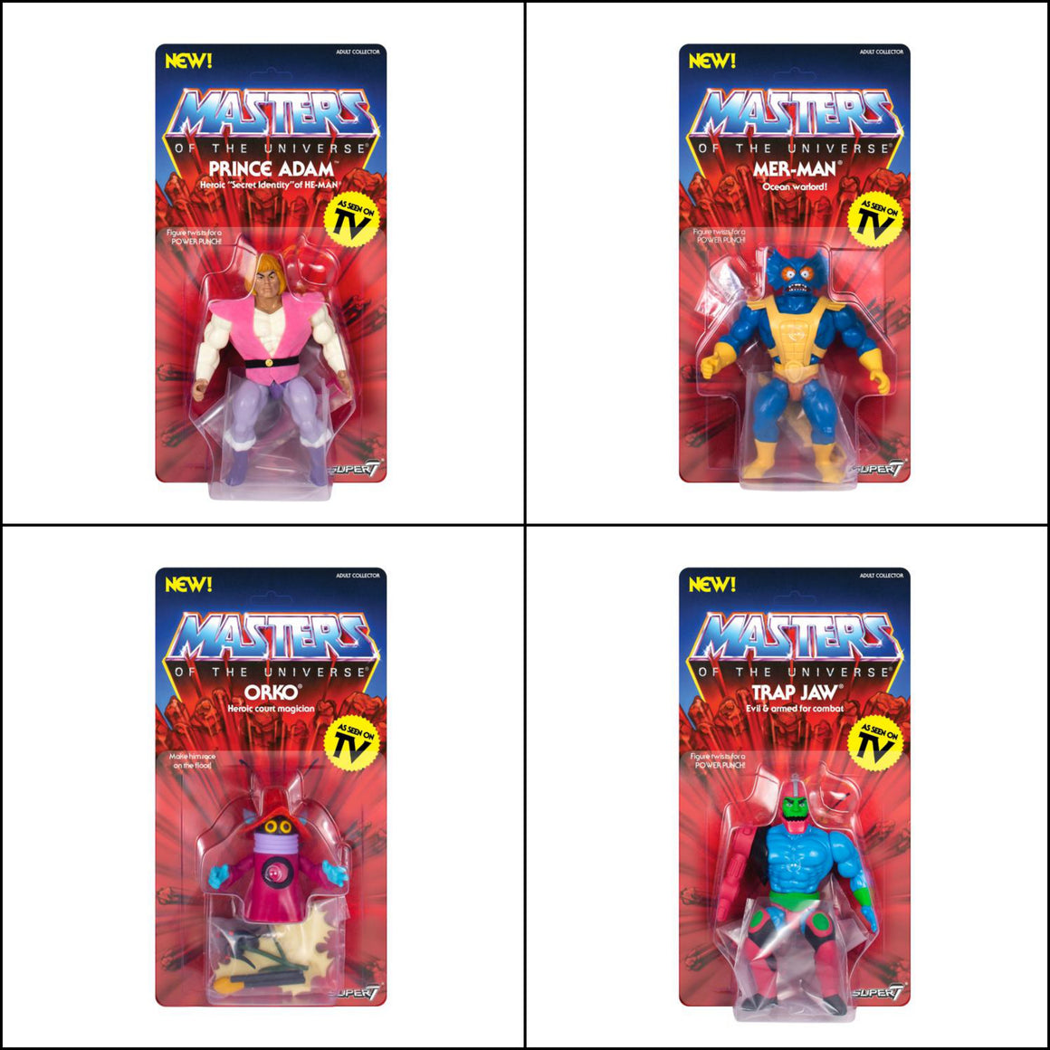 Masters of the Universe Vintage Wave 3 Set of 4 - MARCH 2019