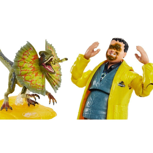 Jurassic Park 6-Inch Scale Amber Collection Action Figure Set of 2 Nedry and Dilophosaurus