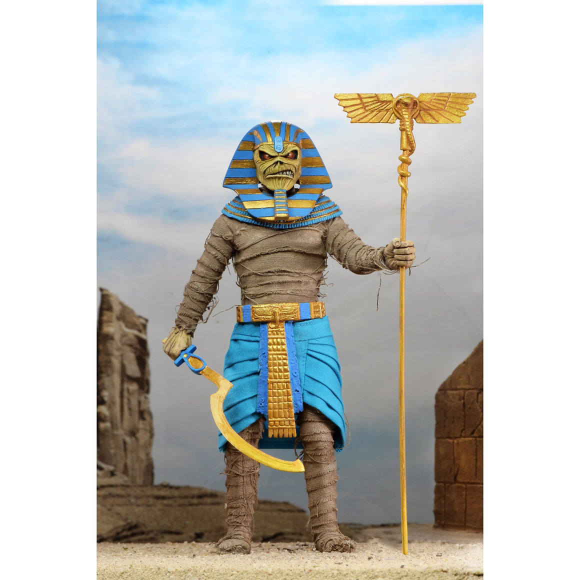 "Iron Maiden Pharaoh Eddie 8"" Scale Clothed Figure - JUNE 2020"