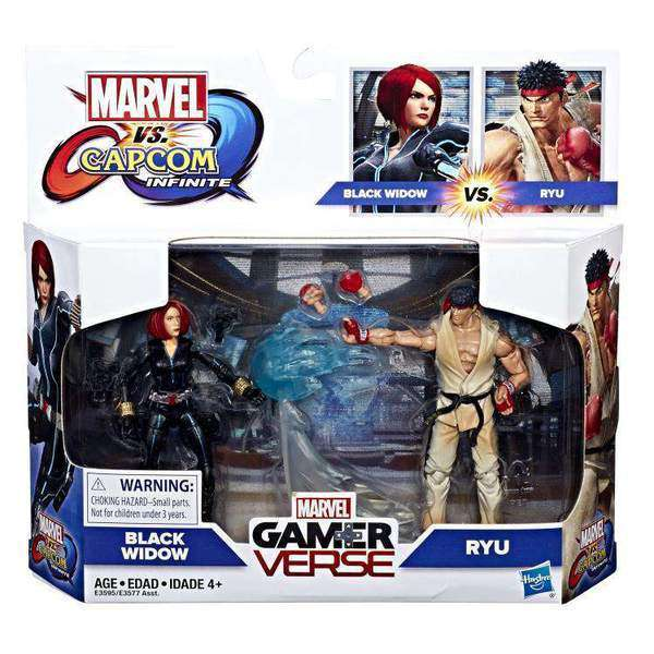 Marvel Gamerverse Wave 1 - Black Widow Vs. Ryu