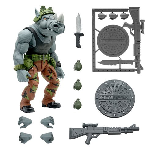 Teenage Mutant Ninja Turtles Ultimates Rocksteady 7-Inch Action Figure - JUNE 2021