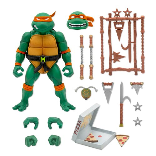 Teenage Mutant Ninja Turtles Ultimates Michelangelo 7-Inch Action Figure - JUNE 2021