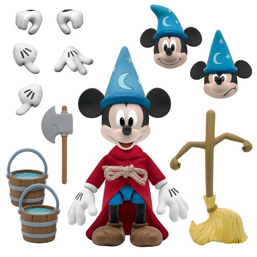 Disney Ultimates Fantasia Sorcerer's Apprentice Mickey Mouse Action Figure - SEPTEMBER 2021