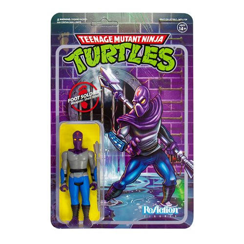 "TMNT Reaction 3.75"" Figures - Foot Soldier"