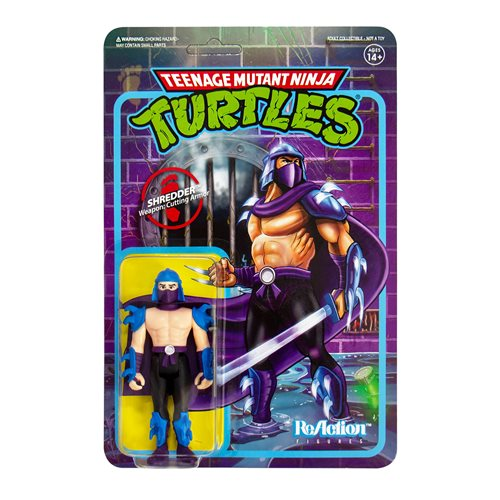 "TMNT Reaction 3.75"" Figures - Shredder"