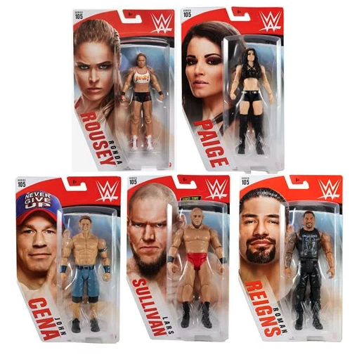 WWE Basic Figure Series 105 - Set of 5