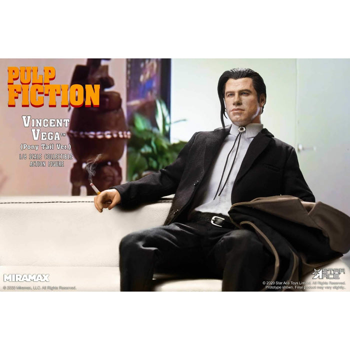 "Pulp Fiction – Vincent Vega ""Pony Tail Version"" 1/6 Scale Figure Deluxe Version - SEPTEMBER 2020"
