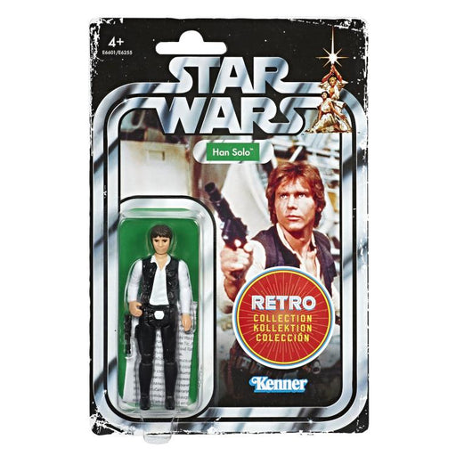 Star Wars The Retro Collection Action Figures Wave 1 - Han Solo (BACKORDERED) JANUARY 2020