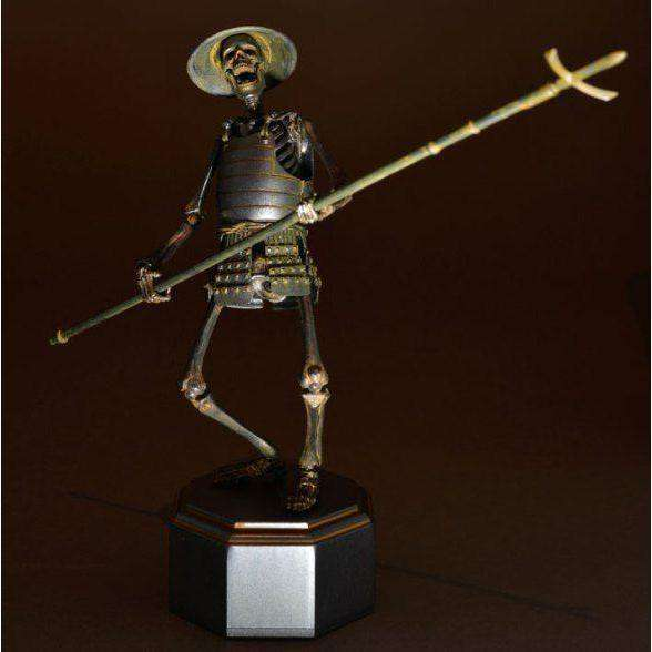 Takeyashiki Jizai Okimono: KT-009 Samurai Skeleton Action Figure (Iron Version)